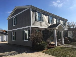 New James Hardie Siding on home