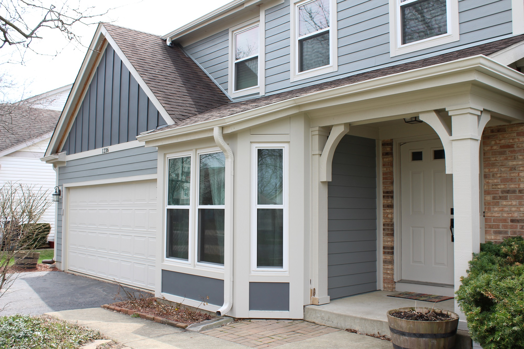 New windows, gutters and siding